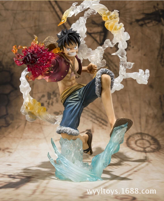 Anime One Piece Monkey D Luffy Action Figure PVC Roronoa Zoro Fighting Figure World Toy Onepiece model free shipping(China (Mainland))