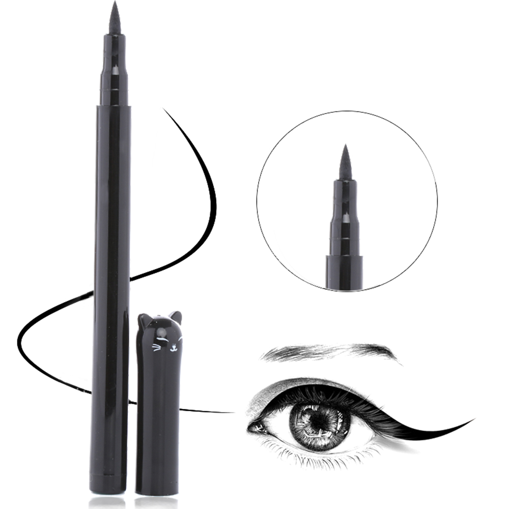 1PC NEW Beauty Cat Style Black Long-lasting Waterproof Liquid Eyeliner Eye Liner Pen Pencil Makeup Cosmetic Tool