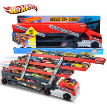 Original Hotwheels Heavy Truck CKC09 Toy Car Hold Truck Boys Hot wheels Truck Toys 6 Layer Scalable Parking Floor Truck Toys(China (Mainland))