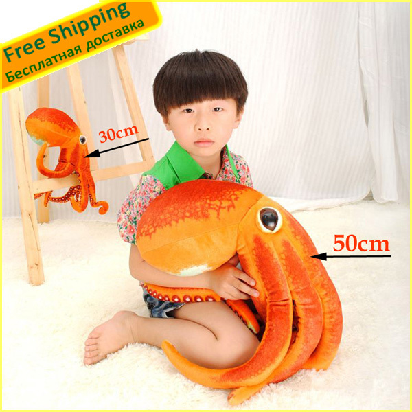 1 PCS 50cm Lovely and Unique Octopus Soft Plush Toys stuffed toys Best children's Christmas/Birthday gifts Wholesale(China (Mainland))