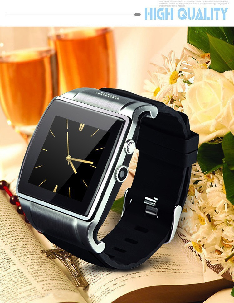 2015 New Watches Men Hi Watch 2 Smart Wristwatch for Iphone Samsung HTC Android Phone Clock/Camera/MP3/Video/FM/Voice Record(China (Mainland))