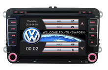 Wholesales! 7″ Double Din Capacitive Touch Screen Car DVD Player GPS for VW JETTA GOLF MK5 MK6 GTI PASSAT B6 POLO SKODA Fabia