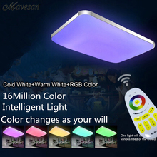 Hot Selling 2.4g Remote RGB Ceiling Light RGB+Cool white+Warm white Smart LED Lamp shade / Modern Ceiling light for living room(China (Mainland))
