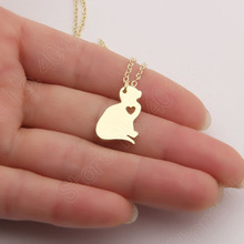 1pcs Cat Necklace Kitty Silver Jewelry Christmas Gifts Kitten Pet Lover Cute Choker Women Necklaces & Pendants Christmas Gift(China (Mainland))