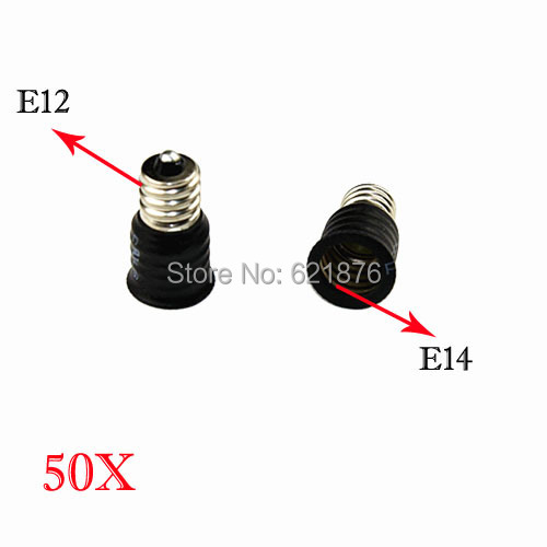 Free shipping 50pcs/lot E12-E14 lamp Adapter Converter E12 to E14 Base Socket lampholder for LED Light halogen lamp(China (Mainland))