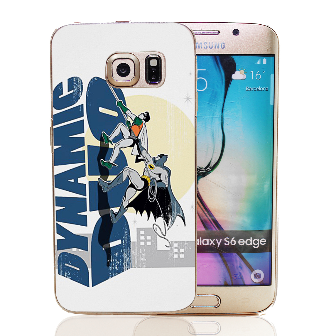dynamic duo Style Transparent Hard Back Cover for Samsung Galaxy S3 S4 S4 S5 Mini S6 S7 Edge(China (Mainland))