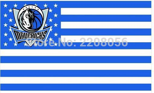 3ft x 5ft Dallas Mavericks Flag Polyester Stars and Stripes Banner 90x150cm white sleeve with 2 Metal Grommets(China (Mainland))