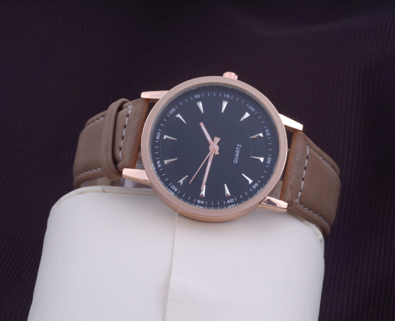 watch movie video picture more detailed picture about hot hot stylish simple elegant trendy watch men s business watches unisex quartz wristwatches brown leather strap
