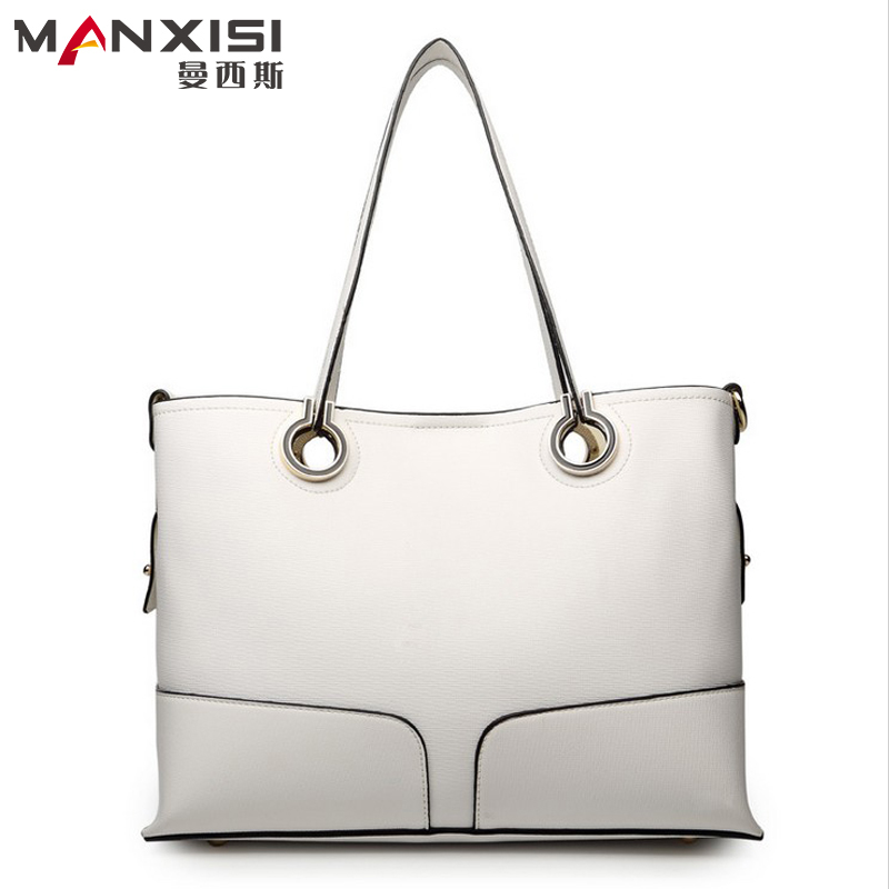 Women Leather Handbags Designer Handbags High Quality Genuine Leather Beige Composite Bag Zipper Solid Ladies Shoulder Bags<br><br>Aliexpress