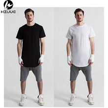Buy HZIJUE 2017 Hot Fashion Men Hip Hop Swag Long T Shirt Oversized High Street Tops Tees Casual Tyga Extended Kanye T-shirt for $9.51 in AliExpress store