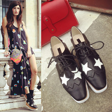 2015 summer new Korean lace thick soled shoes leisure muffin lady star high heeled shoes