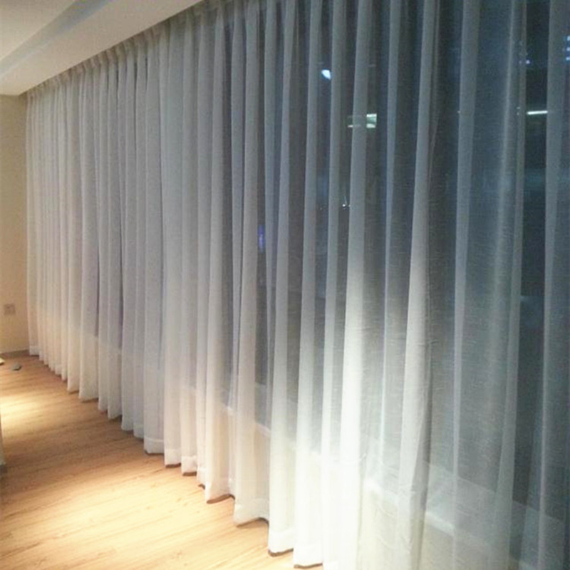 linen tulle white curtains patterned for window living room bedroom