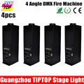 Free shipping 4pcs lot 4 angle DMX 512 Fire Machine China Manufacturer 200W stage Fire Machine