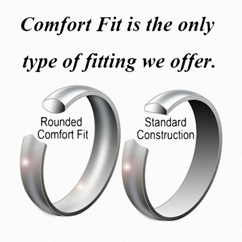 2017 Queenwish 8mm Dome Tungsten Carbide Two Tone Wedding Ring ...