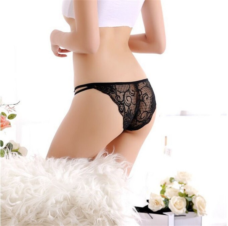 2016 Women underwear  briefs  panties Thong Sexy Lace Hollow Out  Seamless Traceless Transparent  Cotton Women's Panties
