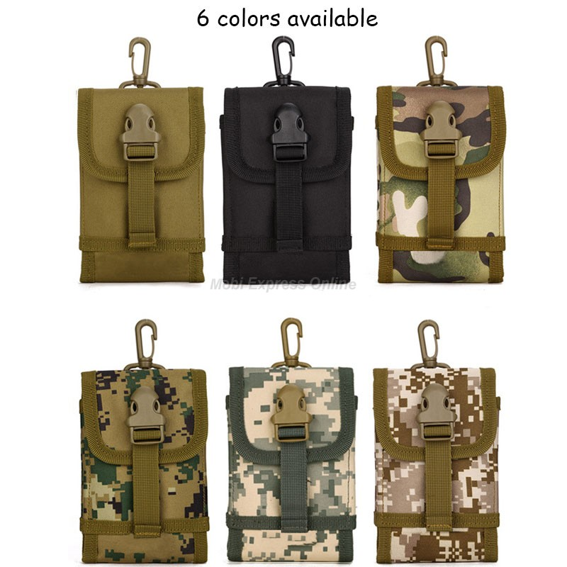 Tactical Army Military Sport Hook Loop Fanny Bag Case Cover Molle Camo Belt Pouch Wallet For Lumia 640 630 950 XL Doogee X5 Pro(China (Mainland))