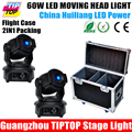 Hi Quality Flight Case 2in1 2XLot 3 Facet Prism 60W Moving Head Led Light Club Show