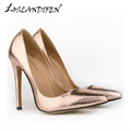 Fashion Crocodile High Heels Women Pumps PU Leather Shoes Pointed Toe Spring Antumn Wedding Party women