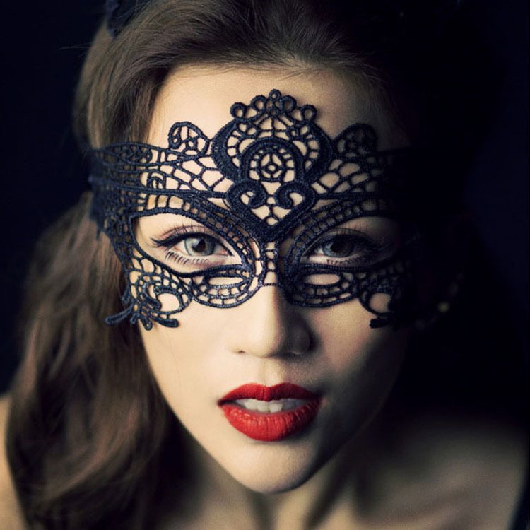 (Wholesale 3pcs/lot) Sexy Lace Hollow Women's Mask Party Face Mask Masquerade Masks for Women Parties Nightclub(China (Mainland))