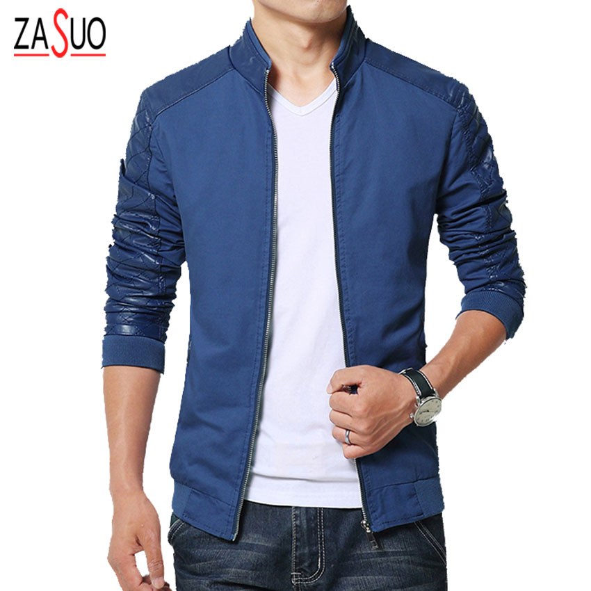 2016 new fashion brand mens jacket pu patchwork korean Designer clothing for men online sales