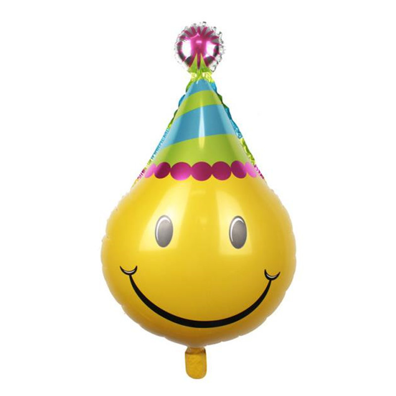 82*49cm Hat Smiley Face Balloons Foil Balloons Birthday Party Wedding Decoration Party Supplies Inflatable Balls for Holidays(China (Mainland))