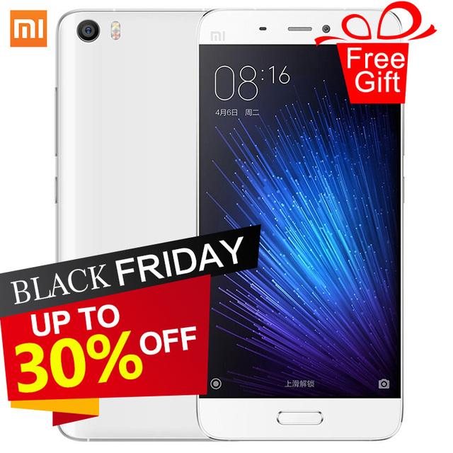 Оригинал Xiaomi Mi5 смартфон Mi 5 Snapdragon 820 3 ГБ RAM 32 ГБ ROM 3000 мАч Dual Sim-карта 4 К Видео мобильные Телефоны