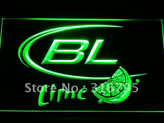 a214-g Bud Light Lime Beer LED Neon Sign with On/Off Switch 7 Colors to choose(China (Mainland))