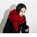 2016 Fashion Winter New Thick Warm Woolen Scarf Solid Color Women Shawl Fashion Female Muffler Wrap