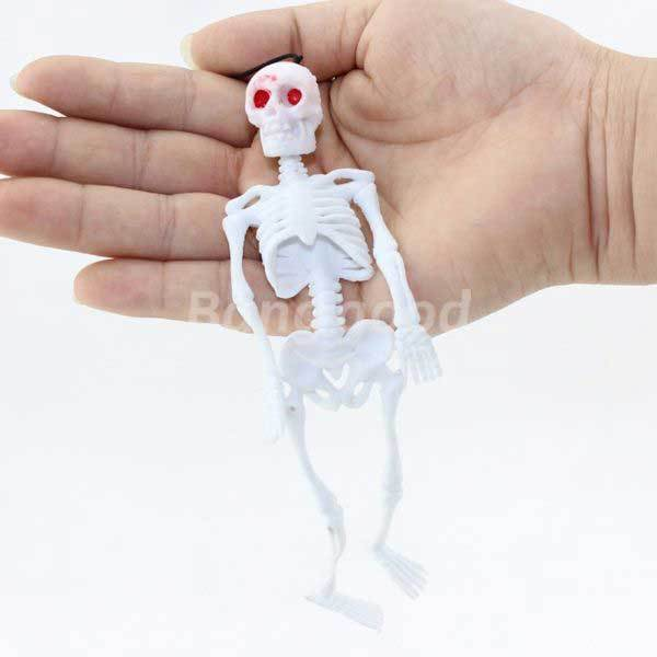 BuyMee Cheap Halloween Trick Toys Hang Simulation Little Human Skeleton.(China (Mainland))