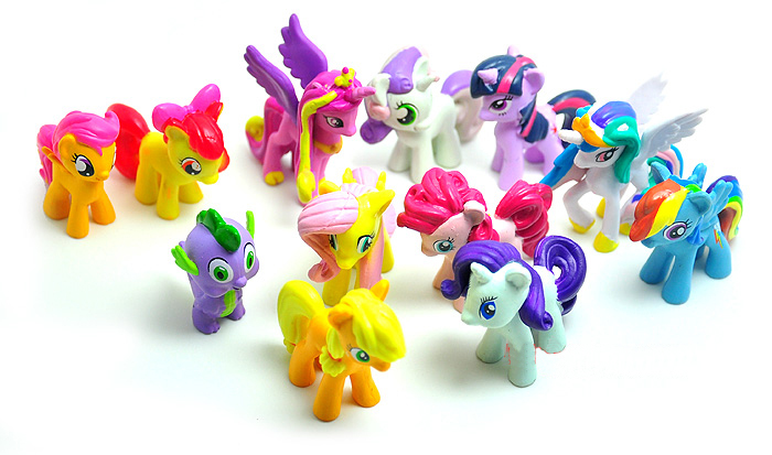 -12Packs/Lot Cute Horse Sets Toys Children Gift,12Pcs/Pack Cartoon Action Figure Vinyl Doll - Grace garment co., LTD(offer Drop shipping store)