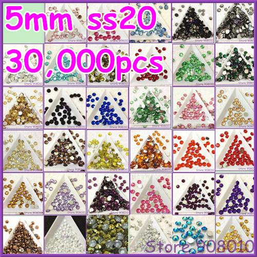 10000pcs/bag 6mm resin rhinestone flatback ~U choose ,ss30 round resin stone flatback