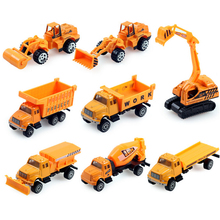 Buy 1:64 8PCS/Set MINI Diecast Car Alloy Construction Vehicle Engineering Metal Car Dump Truck Artificial Model Toys Boy Kids for $35.99 in AliExpress store