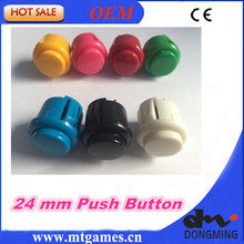 Good Quality 50 PCS/lot 24mm Round Push Button/arcade button with switch, buttons for arcade game machine DIY arcade controller