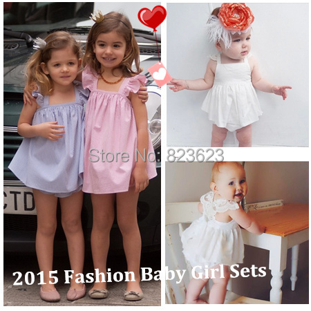 Retail Abby Fish 2015 Summer Hot New Brand Baby Girl Lace&Striped Cute Sets,6m-4y Baby Kids Lace Princess Ruffles Tops+ Shorts(China (Mainland))