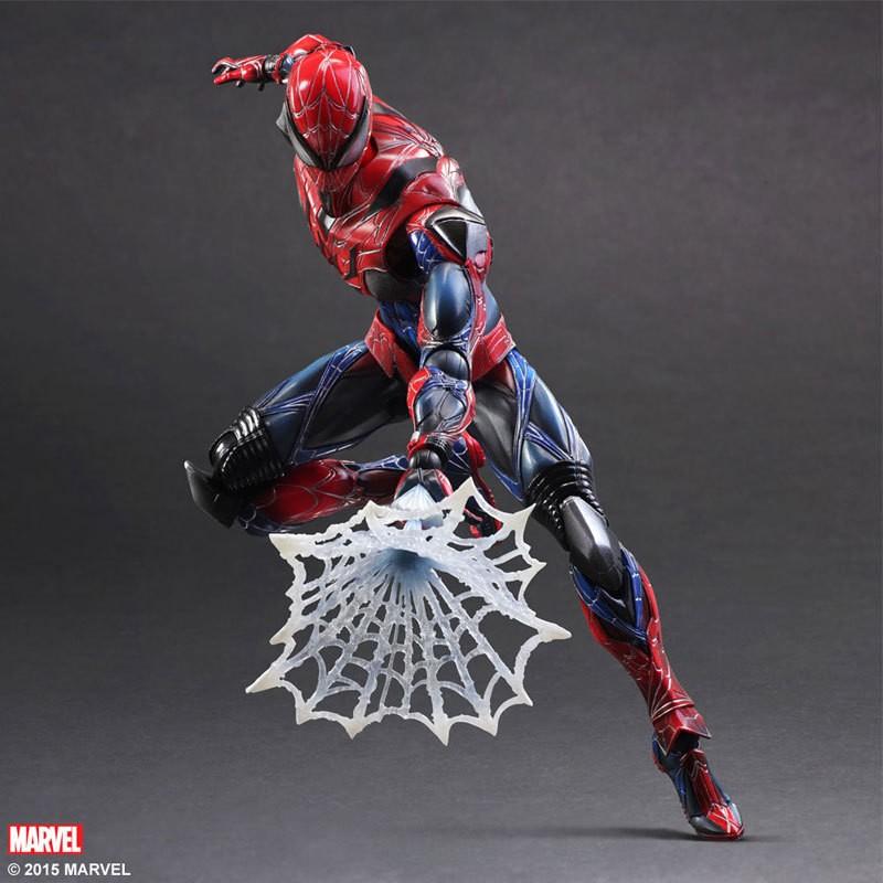 Kissen Spiderman Action Figure Play Arts Kai Spider Man 250MM Anime Model Toys Superhero Playarts Spider-Man