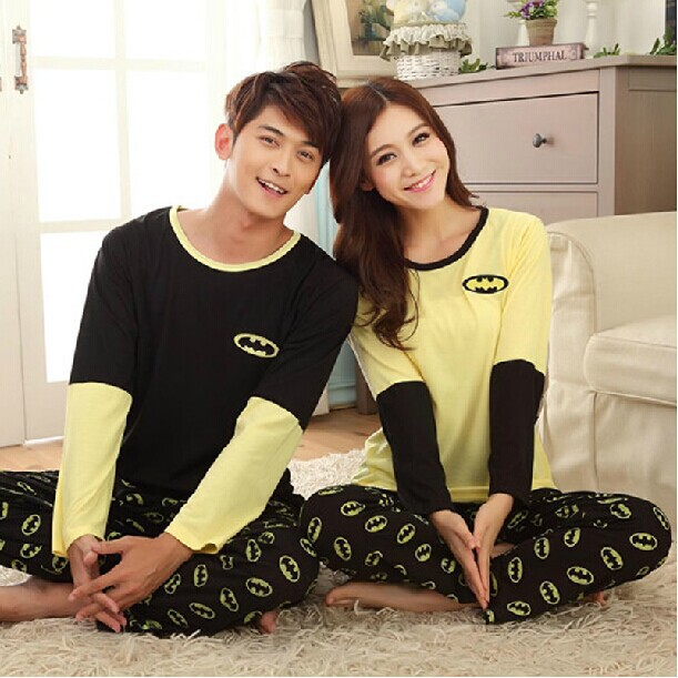 Lovers Couples Cotton Full Sleeve Pajama Set Men Women Pajamas Sleepwear Nightwear Pyjamas - chengfu zhang's store