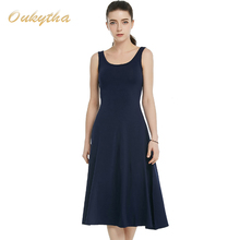 Summer Dress 2017 Korean Fashion Slim Woman Dress Sexy High Waist Sleeveless Vintage Dress Casual Cotton Long Dress Q16187(China (Mainland))