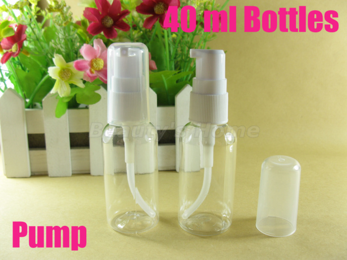 40ml pump bottle refillable make container small/empty bottles #1915 - Packing Supplier(Bottles and Jars store)