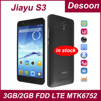 "In stock!Original JIAYU S3 MTK6752 OctaCore 1.7Ghz 3G RAM 16GB ROM FDD LTE 4G 5.5"" 1920*1080 Gorilla Glass Android 4.4/Koccis"