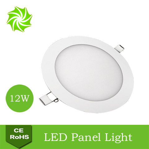 Ultra Bright Thin AC85-265V 12W White / Warm Round Sitting Room Restaurant Kitchen LED Panel Light - ShenZhen YOUYILI Lighting Co., Ltd. store