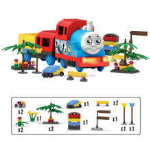 Buy MAYLEGO Electric Set Thomas Friends Building Blocks Train Early Educational DIY Wooden Bricks Learning Kids Toys Gifts for $16.12 in AliExpress store