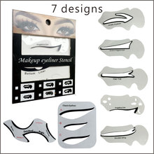 7PCS per Set  Eyeliner Stencils with  Classic Cateye shape Smokey Template Stencil Auxiliary  Makeup Tool(China (Mainland))