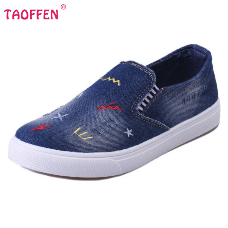 Shoes New Denim Cut Out Canvas Shoes Flat Fashion Trend Nice Comfortable Women Footwear Flat ...