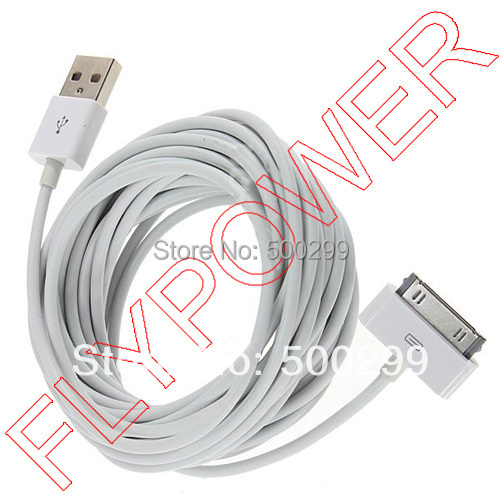 HQ usb Sync Charger data cable For iPhone 4 4s 4g 3g 3gs iPod iPad 2 ipad 3; 5M meter long(China (Mainland))