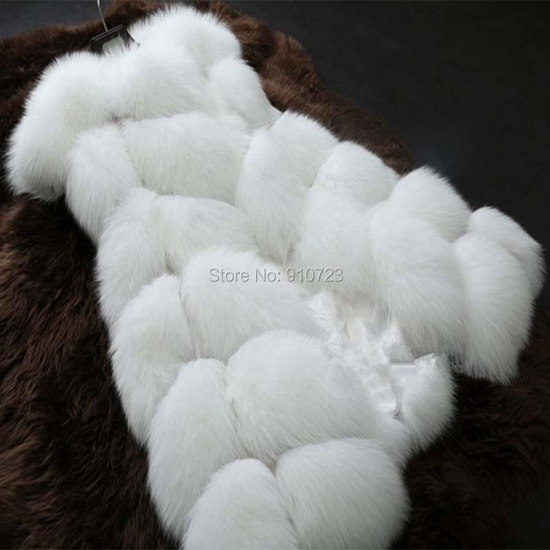 Plus Size Faux Fur Vest Women White Sleeveless Fashion Fox Jacket Winter Coats Patchwork HONCHAN - YIWU TRADE CO, LTD store