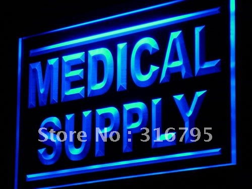 j078-b Medical Supply Shop Display Adv LED Light Sign Wholeselling Dropshipper On/ Off Switch 7 colors DHL(China (Mainland))