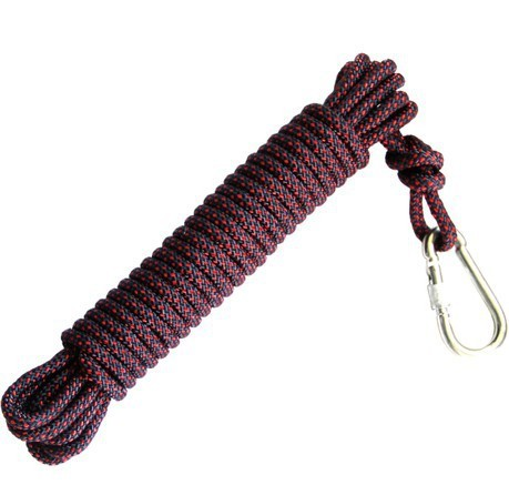 Free shipping!30M/piece 10.5mm 1200kg climbing rope,dynamic safety rope,auxiliary accessory rope