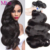 Mink Brazilian Body Wave 4 Bundles Brazilian Body Wave Wet And Wavy Virgin Brazilian Hair Bundles Human Hair Weave Bundles Deals