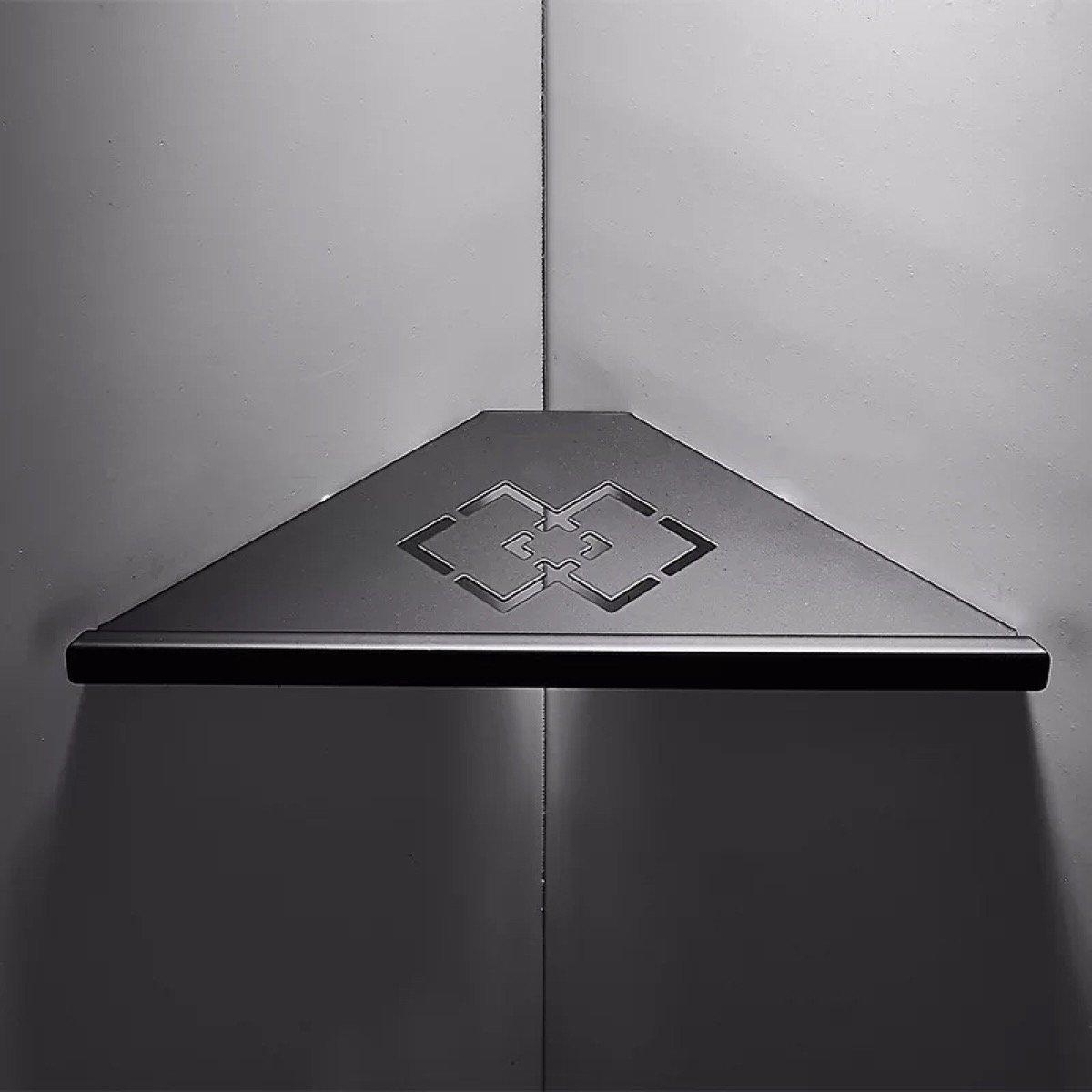 Carved Hollow Out Black Matte Corner Shower Holder 304 Stainless Steel Bathroom Shelf 1 Layer Bathroom Shelves Aliexpress