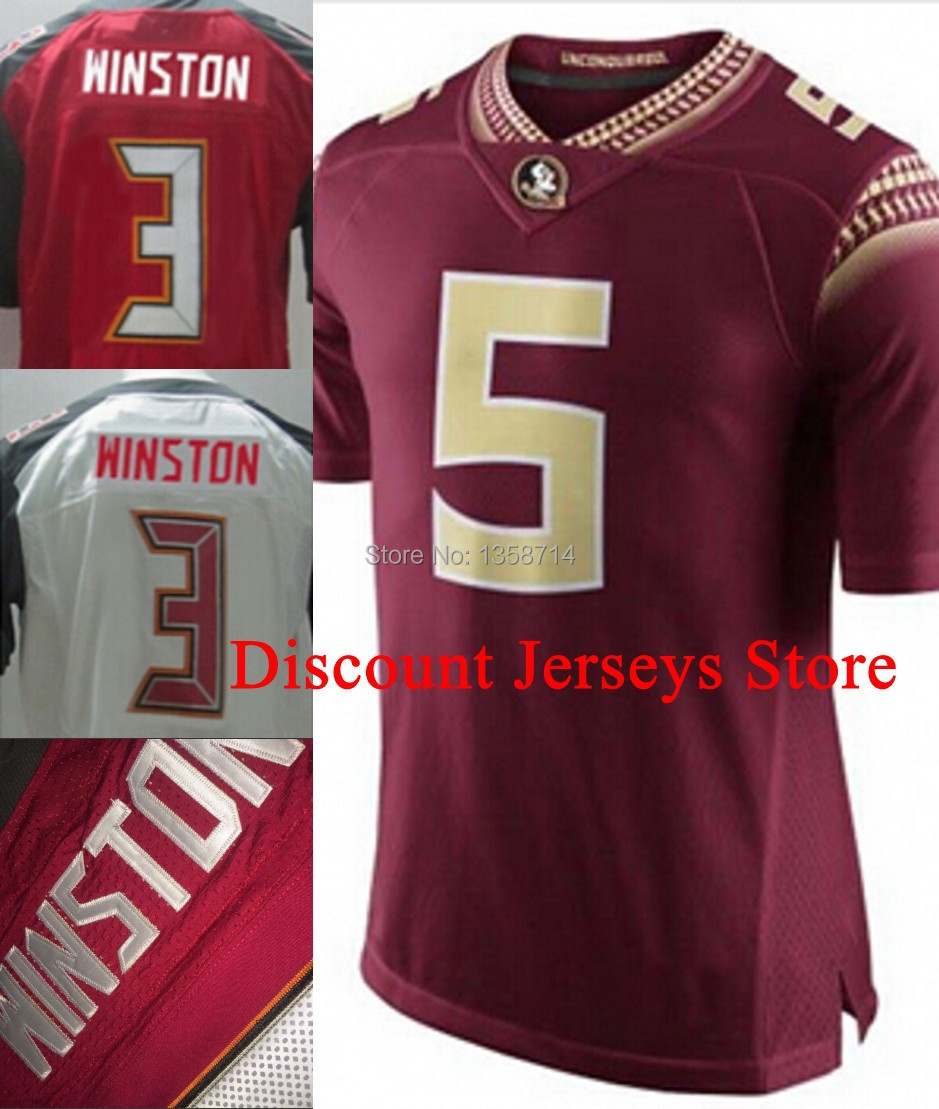 2014 Playoff #5 Jameis Winston Jersey,Florida State Seminoles (FSU) NCAA College Football Jerseys, Embroidery logos(China (Mainland))